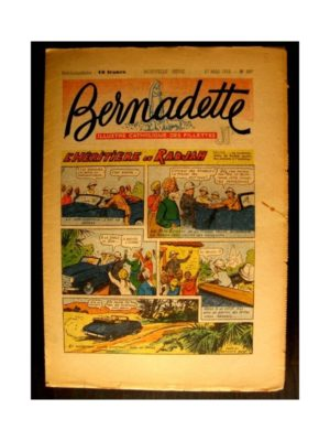 BERNADETTE n°337 (1953) L'HERITIERE DU RADJAH (Miette et Totoche)