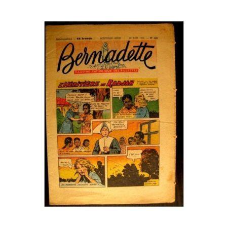 BERNADETTE n°343 (1953) L'HERITIERE DU RADJAH (Miette et Totoche)
