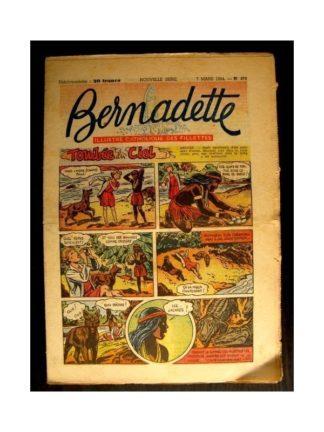 BERNADETTE n°379 (1954) TOMBEE DU CIEL (Miette et Totoche)