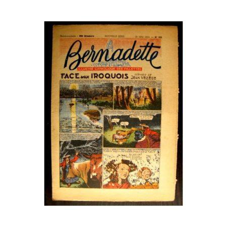 BERNADETTE n°389 (1954) FACE AUX IROQUOIS (Miette et Totoche)