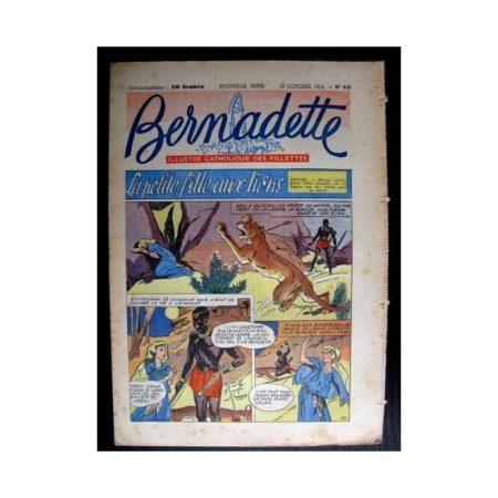 BERNADETTE n°410 (1954) LA PETITE FILLE AUX LIONS (Miette et Totoche)