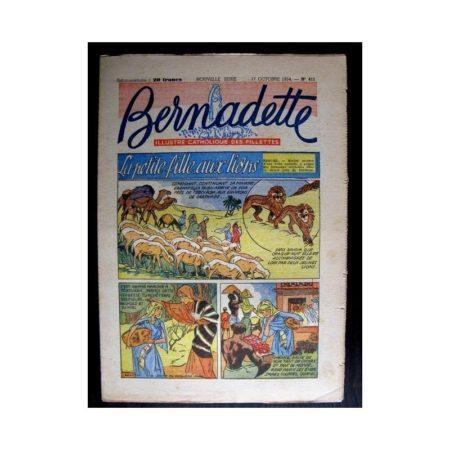 BERNADETTE n°411 (1954) LA PETITE FILLE AUX LIONS (Miette et Totoche)