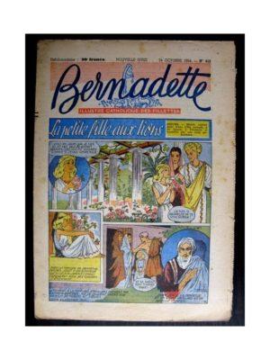 BERNADETTE n°412 (1954) LA PETITE FILLE AUX LIONS (Miette et Totoche)