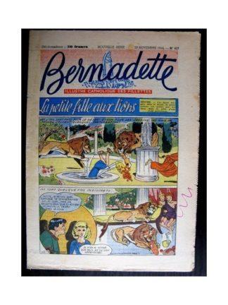 BERNADETTE n°417 (1954) LA PETITE FILLE AUX LIONS (Miette et Totoche)