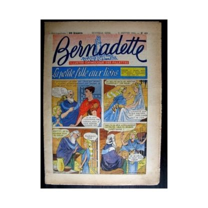 BERNADETTE n°423 (1955) LA PETITE FILLE AUX LIONS