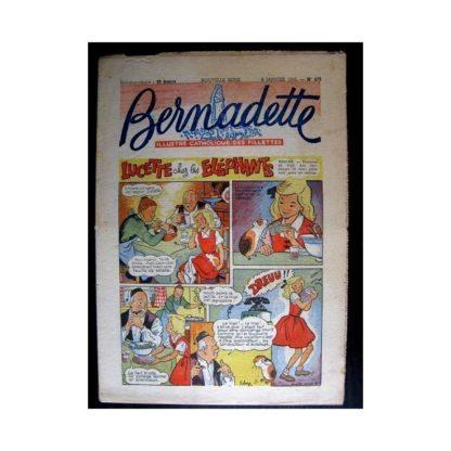 BERNADETTE n°475 (1956) LUCETTE CHEZ LES ELEPHANTS