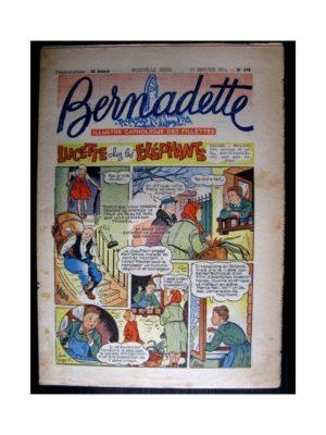 BERNADETTE  n°476 (1956) LUCETTE CHEZ LES ELEPHANTS