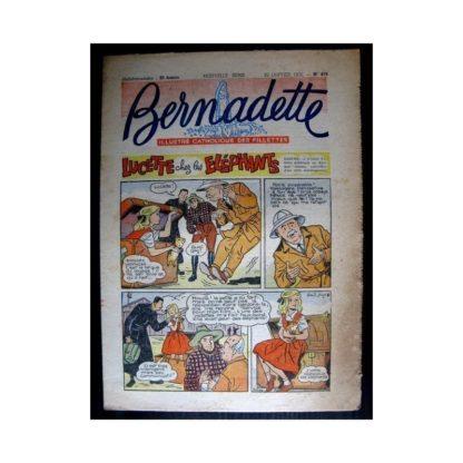 BERNADETTE n°478 (1956) LUCETTE CHEZ LES ELEPHANTS