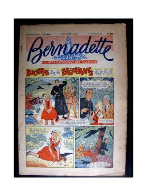 BERNADETTE  n°480 (1956) LUCETTE CHEZ LES ELEPHANTS