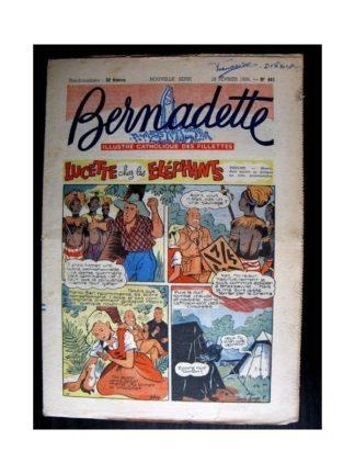 BERNADETTE n°481 (1956) LUCETTE CHEZ LES ELEPHANTS