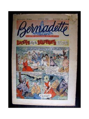 BERNADETTE  n°482 (1956) LUCETTE CHEZ LES ELEPHANTS