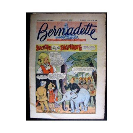 BERNADETTE n°486 (1956) LUCETTE CHEZ LES ELEPHANTS