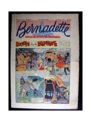 BERNADETTE  n°488 (1956) LUCETTE CHEZ LES ELEPHANTS