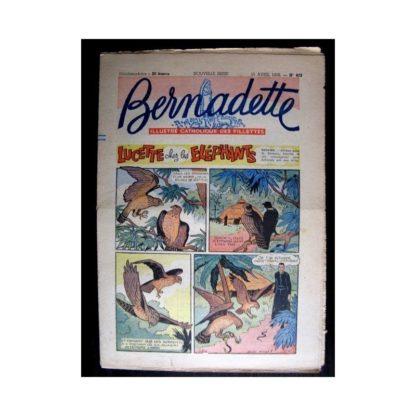 BERNADETTE n°489 (1956) LUCETTE CHEZ LES ELEPHANTS
