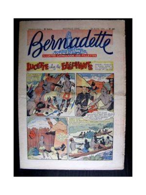 BERNADETTE  n°491 (1956) LUCETTE CHEZ LES ELEPHANTS
