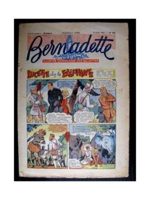 BERNADETTE n°496 (1956) LUCETTE CHEZ LES ELEPHANTS