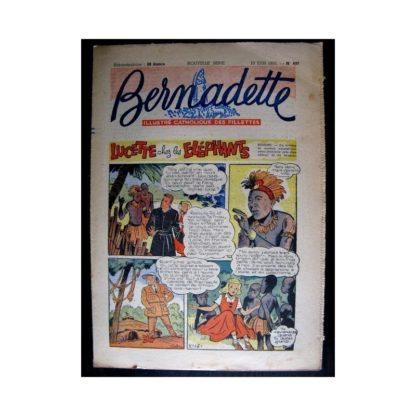 BERNADETTE n°497 (1956) LUCETTE CHEZ LES ELEPHANTS