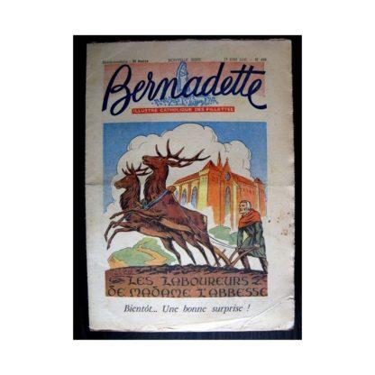 BERNADETTE n°498 (1956) LES LABOUREURS DE MADAME L'ABBESSE