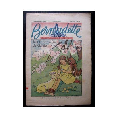 BERNADETTE n°18 (6 avril 1947) LES OEUFS DE PAQUES DE CATHIE