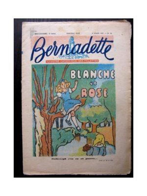 BERNADETTE N°31 (6 JUILLET 1947) BLANCHE ET ROSE – SAINTE ELISABETH, reine de Portugal (Marie-Louise Pécourt)