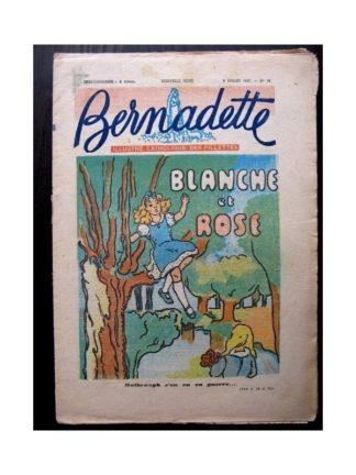 BERNADETTE n°31 (6 JUILLET 1947) BLANCHE ET ROSE / SAINTE ELISABETH