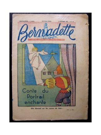 BERNADETTE n°44 (5 octobre 1947) CONTE DU PORTRAIT ENCHANTE