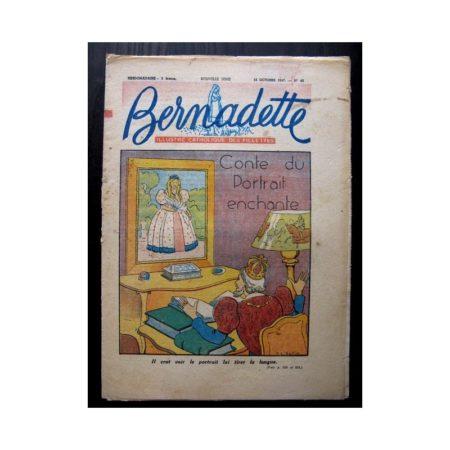 BERNADETTE n°45 (12 octobre 1947) CONTE DU PORTRAIT ENCHANTE (suite)