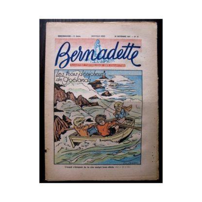 BERNADETTE n°51 (23 novembre 1947) LES TROIS DENICHEURS DE GOELANDS / RAYMOND MORITZ
