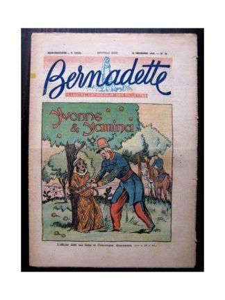 BERNADETTE n°54 (14 décembre 1947) YVONNE ET YAMINA / RAYMOND MORITZ