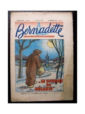 BERNADETTE N°56 (28 décembre 1947) LE SOURIRE DE MELANIE