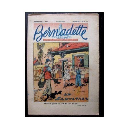 BERNADETTE n°60 ET 61 (1ER FEVRIER 1948) UN SAUVETAGE (JOBBE DUVAL)