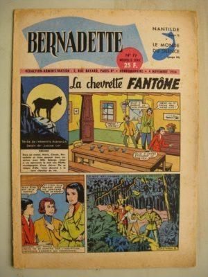 BERNADETTE N°19 (4 novembre 1956) Nanthilde épouse de Dagobert 1er – Professeur Lupardi – La Chevrette fantôme (Janine Lay)