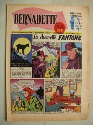 BERNADETTE N°20 (11 novembre 1956) La Chevrette fantôme (Janine Lay) Sainte Elisabeth de Hongrie (Manon Iessel) Martine et Zozo