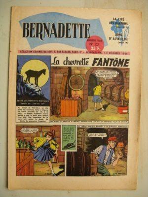 BERNADETTE N°23 (2 décembre 1956) La Chevrette fantôme (Janine Lay) – Sainte Elisabeth de Hongrie (Manon Iessel) Martine et Zozo