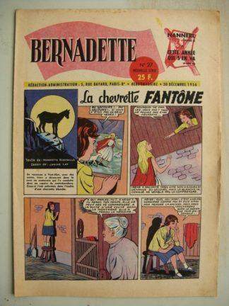 BERNADETTE N°27 (30 décembre 1956) La Chevrette fantôme (Janine Lay) Sainte Elisabeth de Hongrie (Manon Iessel)