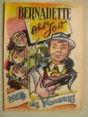 BERNADETTE N°95 (20 avril 1958) Abel Jost (Mixi-Bérel) Lilioute (Manon Iessel) La Valette (J. Janvier) Brigitte FosseyTekakwitha