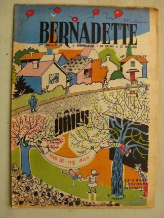 BERNADETTE N°100 (25 mai 1958) Carrefour des 3 chênes (J. Janvier) Lilioute (Manon Iessel) Tekakwitha (Janine Lay)