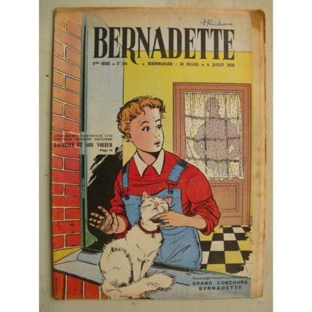 BERNADETTE N°106 (6 juillet 1958) Laurence et son voleur (J. Janvier) Lilioute (Manon Iessel) Mermoz facteur du ciel (Pierdec)
