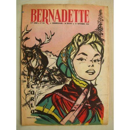 BERNADETTE N°116 (14 septembre 1958) Troupeau de Carla (A. d'Orange) Lilioute (Manon Iessel) Auberge du hérisson (M. Gourlier)