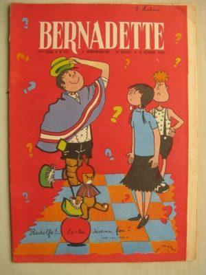 BERNADETTE N°137 (8 février 1959) Mouke et Rodolfe (M. Métrot) Le secret (J. Janvier) Puma aux yeux d'Escarboucles (Janine Lay)