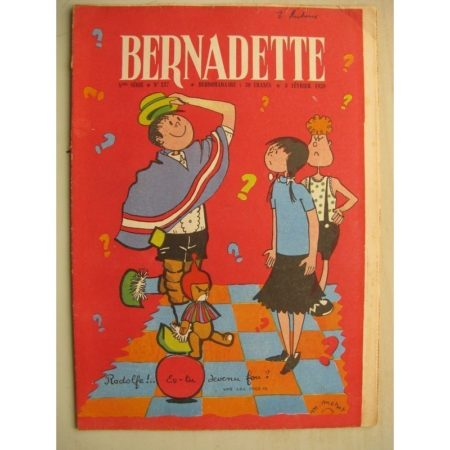 BERNADETTE N°137 (8 février 1959) Mouke et Rodolfe (M. Métrot) - Le secret (J. Janvier) Puma d'Escarboucles (Janine Lay)