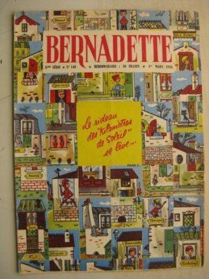 BERNADETTE N°140 (1er mars 1959) Capitaine Cook (H. Robitaillie – dessins de Tiki) La fée du Ranch (Alain d'Orange)