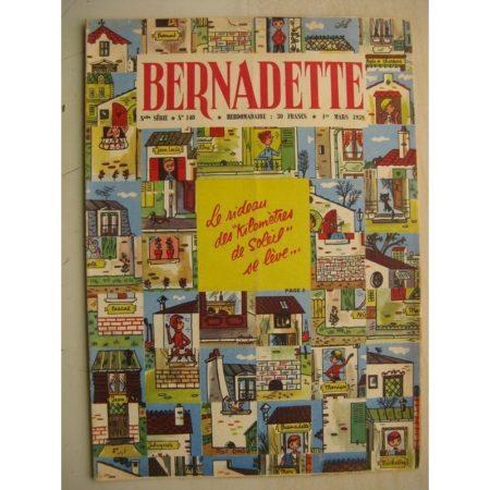 BERNADETTE N°140 (1er mars 1959) Capitaine Cook (H. Robitaillie - dessins de Tiki) La fée du Ranch (Alain d'Orange)