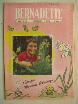 BERNADETTE N°142 (15 mars 1959) Le printemps – Ronde du grand sot (J. Lefebvre) La fée du Ranch (Alain d'Orange) Mimi princesse