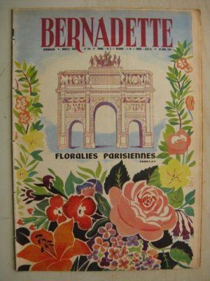 BERNADETTE N°148 (26 avril 1959) Floralies Internationales de Paris – Jouant avec la fumée (Angeo Torre) Alerte au clos Moussu