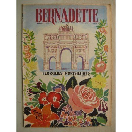 BERNADETTE N°148 (26 avril 1959) Floralies Internationales de Paris - Jouant avec la fumée (Angeo Torre) Alerte au clos Mouss