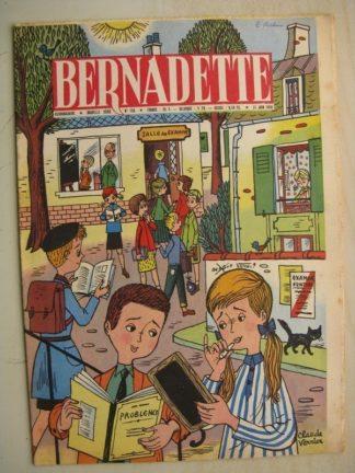 BERNADETTE N°155 (21 juin 1959) Les examens (Claude Verrier) Le fusil (Léonide) La fée du Ranch (Alain d'Orange) Janine Lay
