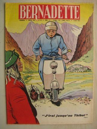 BERNADETTE N°158 (5 juillet 1959) J'irai au Thibet (Tiky - Gaston Jacquement) La fée du Ranch (Alain d'Orange - Albert Bonneau)