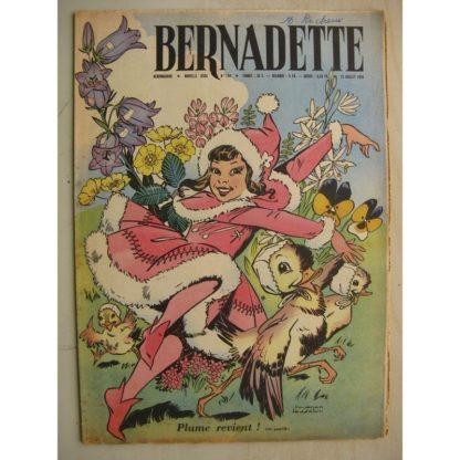 BERNADETTE N°159 (12 juillet 1959) Plume (Henriette Robitaillie - Manon Iessel) Je vous attendais (Ange Torre) Alain d'Orange