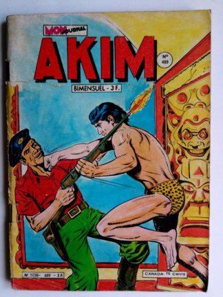 BD AKIM N°489 Le temple souterrain - Mon Journal 1979